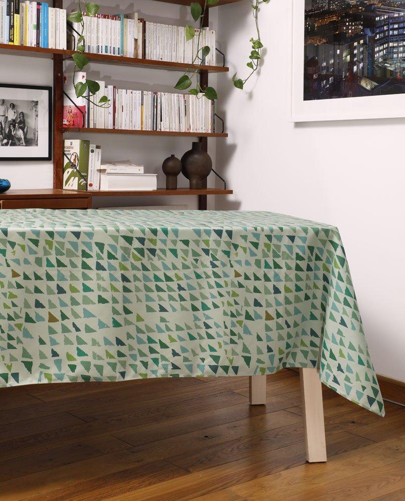 """Salon-Nappe """"Forêt-lichen"""". Imprimée sur polyester recyclé."""