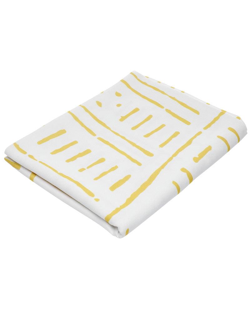 """Nappe """"Zeste"""" pliée. Imprimée sur polyester recyclé."""