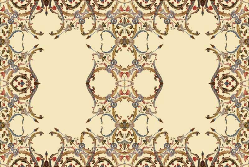 """Nappe """"coimbra"""", inspirée des plafonds décoré de la chapelle Portugaise du XVIème siècle."""